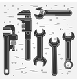Set of flat wrench icon vector image