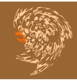 Tribal style design bird tattoos pattern vector image