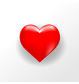 3d realistic heart red love element symbol icon vector image vector image