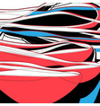 abstract beautiful linear bright waves graphics vector image vector image