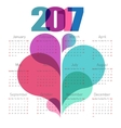 Abstract calendar 2017 with colorful shapes vector image vector image
