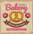 bakery poster design bread and donuts with vector image vector image