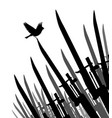 bayonet bird of peace vector image vector image