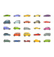 best cars flat icons vector image