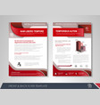 brochures and flyers template design vector image vector image
