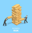 buiness risks flat isometric concept vector image vector image