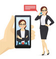 businesswoman talking on mobile phone vector image