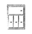 cabinet shelf furniture wooden office book vector image vector image