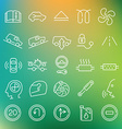 clean icons set vector image vector image