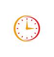 clock icon flat design element watch vector image vector image