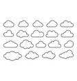 clouds line art web icons vector image vector image