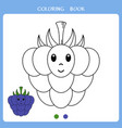 cute blackberry for coloring book vector image vector image