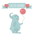 Cute bunny holding ball vector image vector image