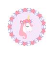 cute little unicorn modern cartoon style fairy vector image vector image