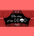 day dead mexico lettering vector image vector image