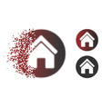 dispersed dot halftone real estate icon vector image vector image