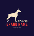 dog logo for club or shop vector image