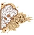 Engraving virgo vector image vector image
