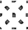 file doc pattern seamless black vector image vector image