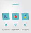 flat icons ice boot boxing reward and other vector image vector image