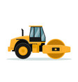 flat roll design heavy machinery vector image vector image