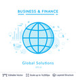 global solutions symbol on white vector image vector image