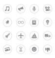 Gray simple flat icon set 5 with circle frame vector image vector image