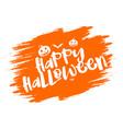 grunge halloween typography background vector image vector image