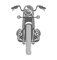 Hand Drawn Vintage Motor Bike vector image