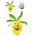 Happy bunch of berries vector image vector image