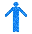 Ignorance Pose Grainy Texture Icon vector image vector image