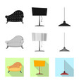 isolated object of furniture and apartment icon vector image