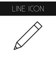 isolated pen outline pencil element can be vector image vector image