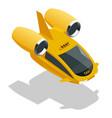 isometric modern futuristic air passenger vector image