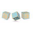 letter C wooden alphabet blocks vector image