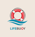 lifebuoy design element vector image
