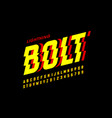 lightning bolt style font vector image vector image