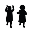 little girl silhouette vector image