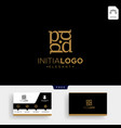 luxury gold initial d logo template and business vector image vector image
