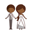 married couple avatar characters vector image vector image