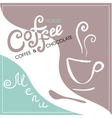 Menu cover for cafe bar coffeehouse vector image