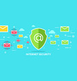 modern in flat style data security vector image