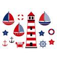 nautical baby set marine vector image vector image