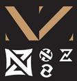 nz logo set vector image