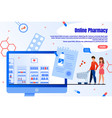 online pharmacy shopping service webpage vector image vector image