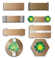 Outdoor furniture Bench top view for landscape vector image vector image