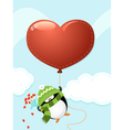 Penguin with big heart vector | Price: 3 Credits (USD $3)