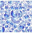 russian ornaments gzhel art seamless vector image