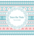 Save the date card template with floral frame vector image vector image