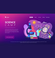 science camp concept landing page vector image vector image